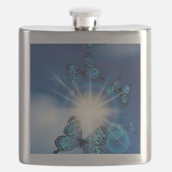 Unique Butterfly Flask