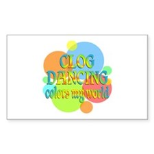 Clog Dancing Colors My World Decal