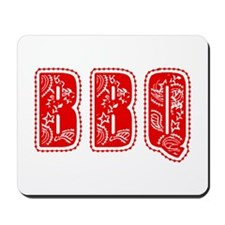 Red White & Blue BBQ Mousepad