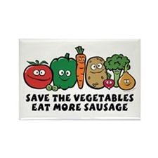 Save The Vegetables Rectangle Magnet