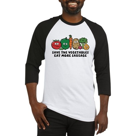 Save The Vegetables Baseball Jersey