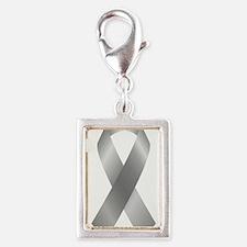 Silver Awareness Ribbon Charms