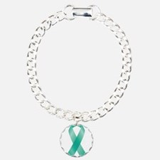Cute Ovarian cancer Charm Bracelet, One Charm