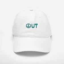 Peace Out Baseball Baseball Cap