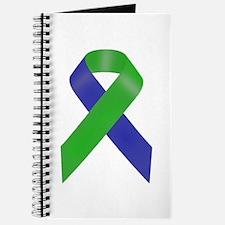 Blue and Green Awareness Ribbon Journal
