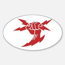 Lightning Fist Oval Decal