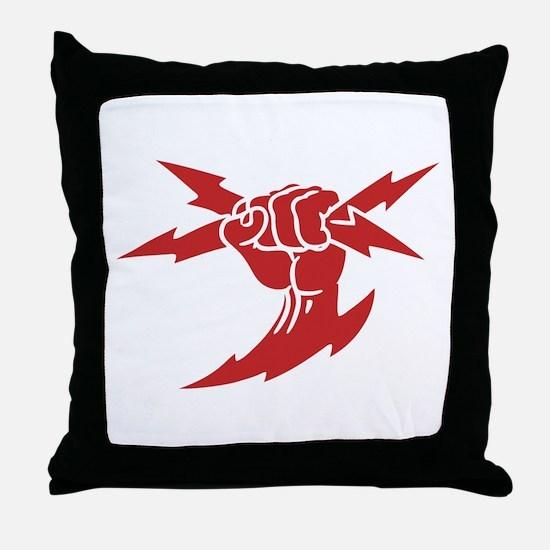 Lightning Fist Throw Pillow
