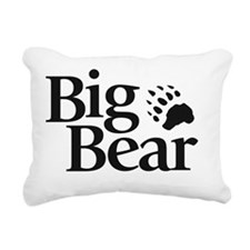 Big Bear Logo Rectangular Canvas Pillow