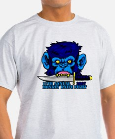 Monkey Knife Fight T-Shirt