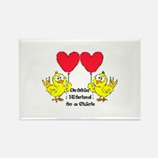 Gettin Hitched to a chick 1 Rectangle Magnet