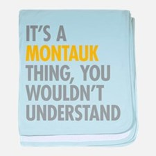 Its A Montauk Thing baby blanket