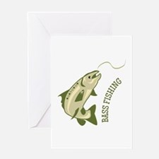 Bass Fishing Greeting Cards