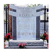 Korean War Memorial, Natick, Tile Coaster