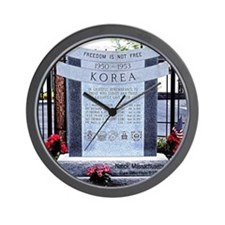 Korean War Memorial, Natick, Wall Clock