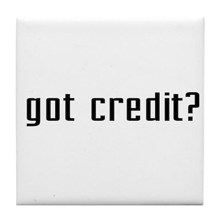 Got Credit? Tile Coaster