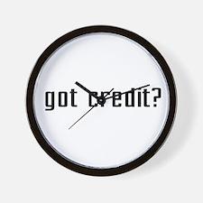 Got Credit? Wall Clock