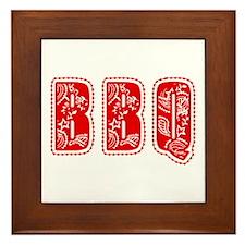 Red White & Blue BBQ Framed Tile