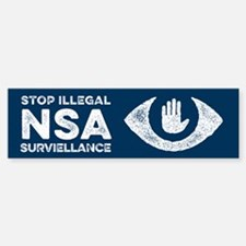 Stop the NSA Bumper Bumper Bumper Sticker