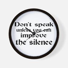 Don't Speak Wall Clock