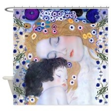 Klimt Mother & Child Art Deco Shower Curtain
