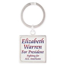 Elizabeth Warren for President Square Keychain