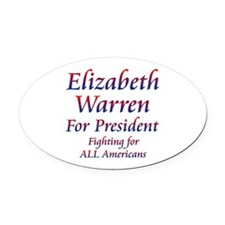 Elizabeth Warren for President Oval Car Magnet