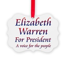 Elizabeth Warren for President Ornament