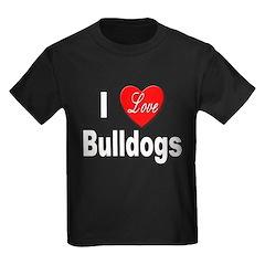 I Love Bulldogs (Front) T