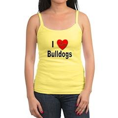I Love Bulldogs Jr.Spaghetti Strap