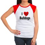 I Love Bulldogs Women's Cap Sleeve T-Shirt