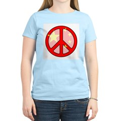 Peace In China Women's Pink T-Shirt