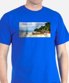 Crash Boat Beach Scene T-Shirt