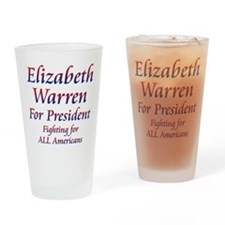 Elizabeth Warren Drinking Glass