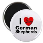 I Love German Shepherds Magnet
