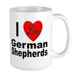 I Love German Shepherds Large Mug