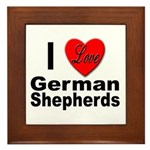 I Love German Shepherds Framed Tile