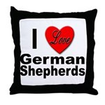 I Love German Shepherds Throw Pillow