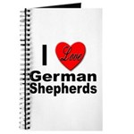 I Love German Shepherds Journal