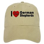 I Love German Shepherds Cap