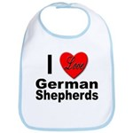 I Love German Shepherds Bib