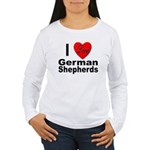 I Love German Shepherds (Front) Women's Long Sleev