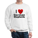 I Love German Shepherds (Front) Sweatshirt