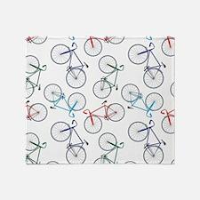 Bicycles Pattern Throw Blanket