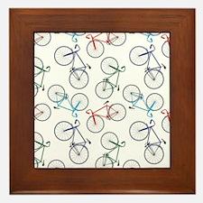 Bicycles Pattern Framed Tile