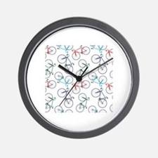 Bicycles Pattern Wall Clock