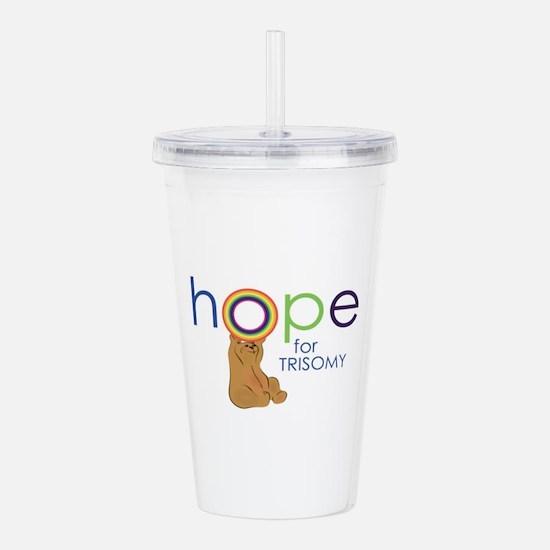 Hope For Trisomy Acrylic Double-wall Tumbler