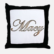 Gold Macy Throw Pillow