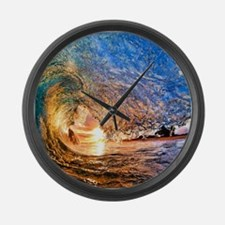 Summer Wave Large Wall Clock