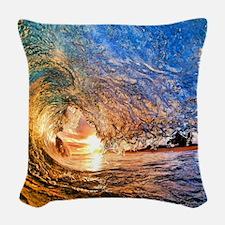 Summer Wave Woven Throw Pillow
