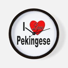 I Love Pekingese Wall Clock